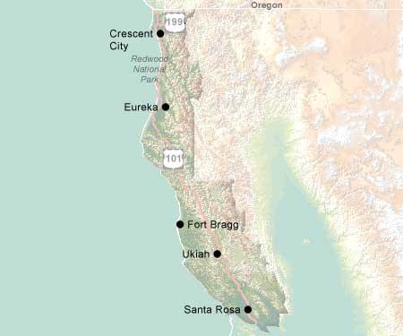 North Coast California